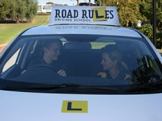 Driving lesson and test